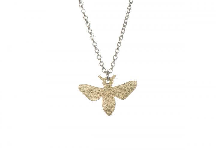Brass bee pendant