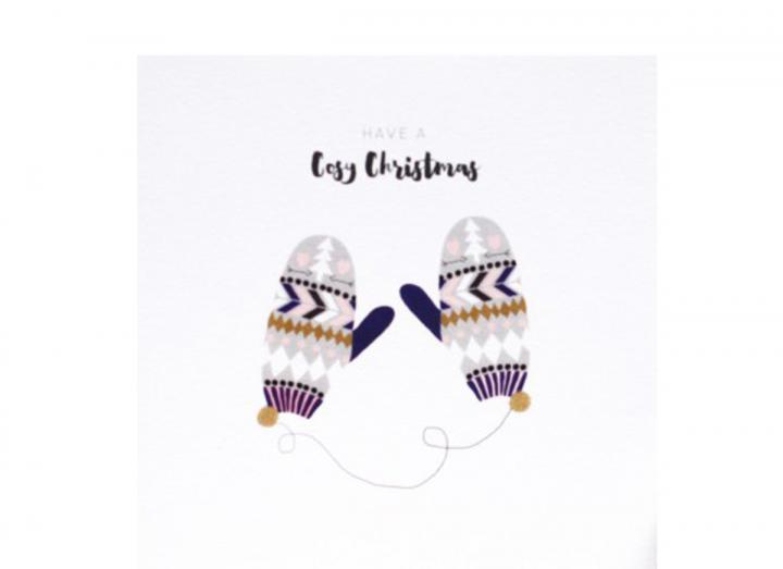 Cosy mitts Christmas card