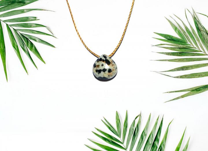 Dalmation stone necklace