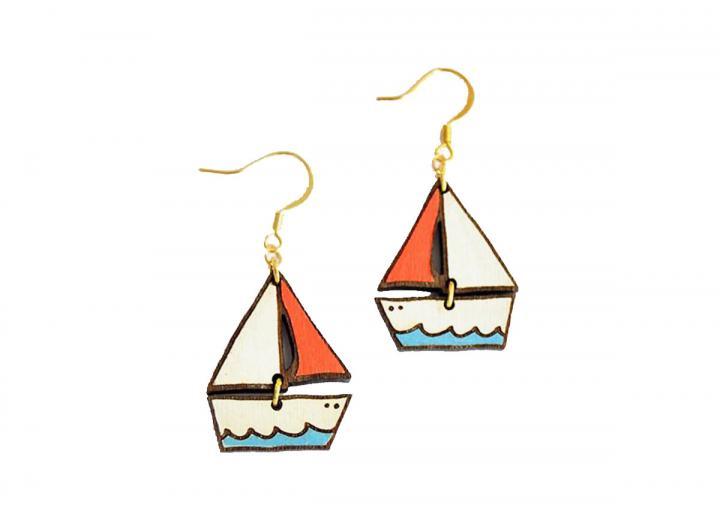 Dreamy boat earrings