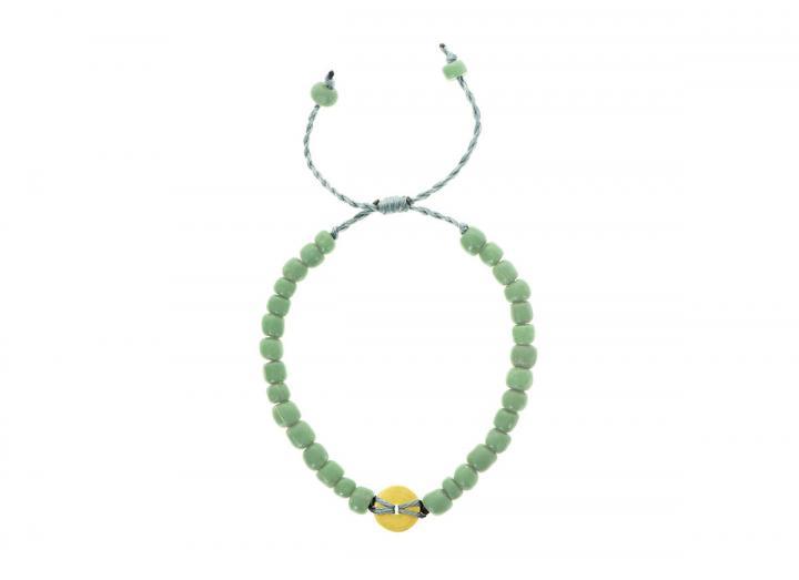 Earth disc bracelet