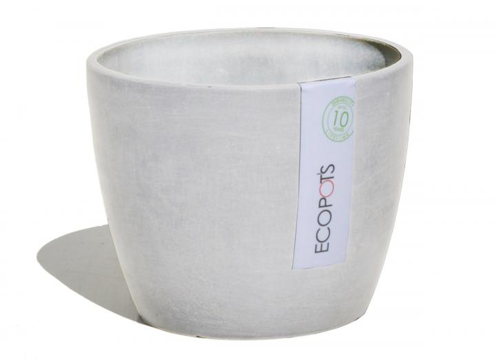 Light grey plant pot