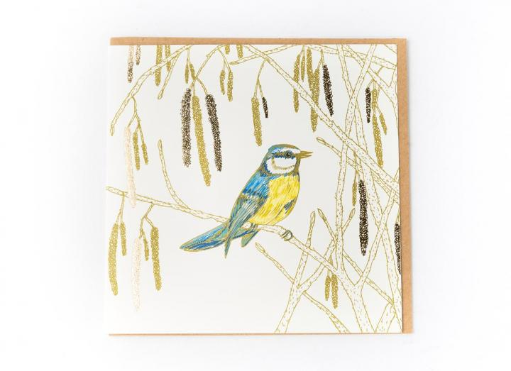 Eden Project blue tit card