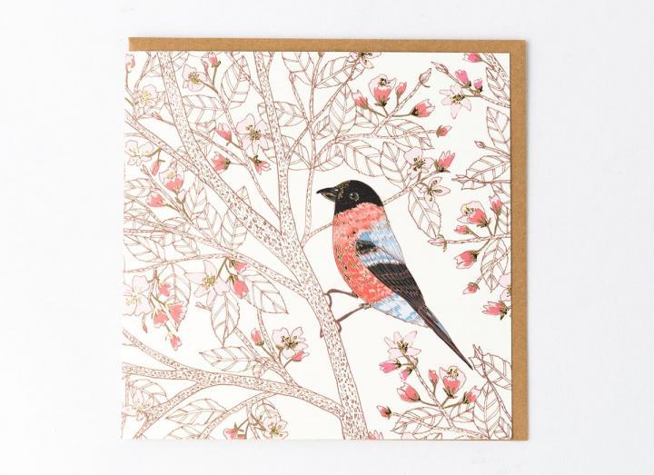 Eden Project bullfinch card