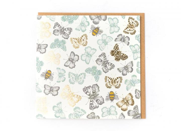 Eden Project butterflies and bees card