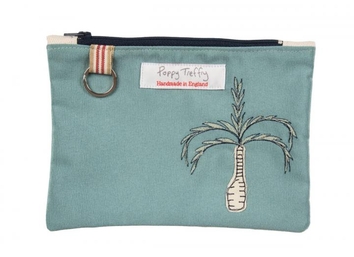Eden embroidered large purse with key ring
