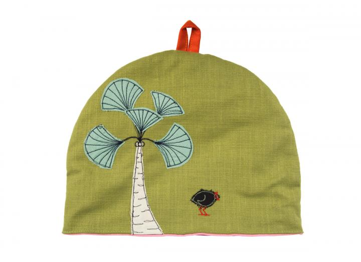 Eden embroidered tea cosy
