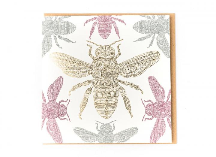 Eden Project native black honeybee card