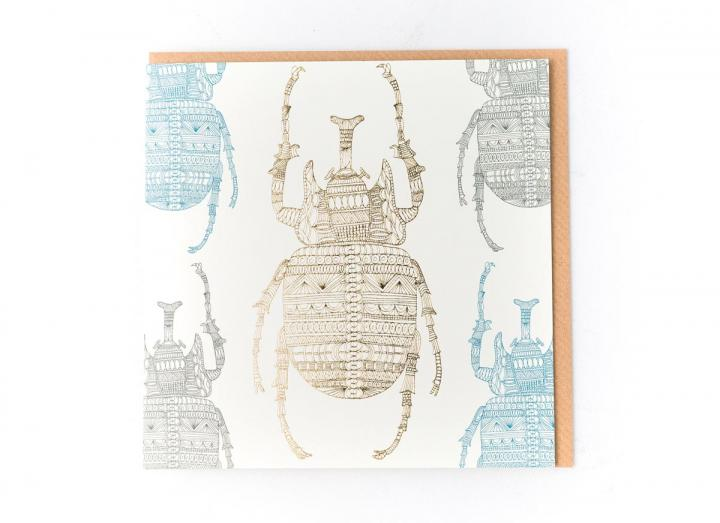 Eden Project stag beetle card