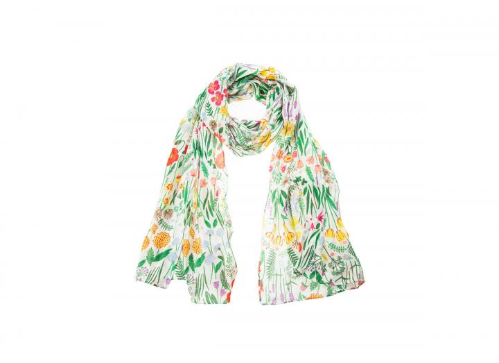 Eden wildflower meadow bamboo scarf