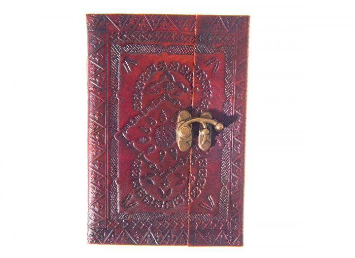 Embossed leather journal with clasp