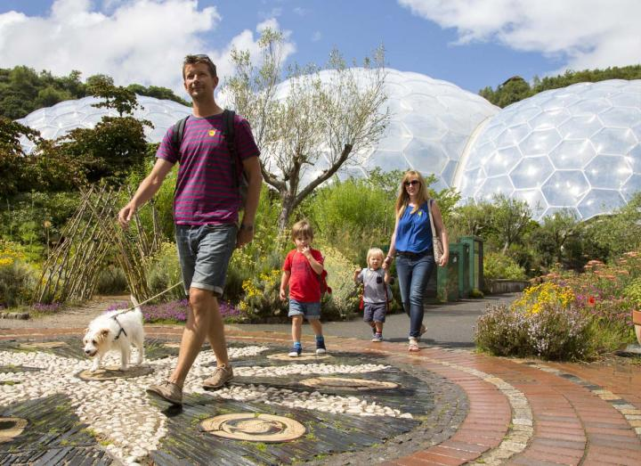 Family at the Eden Project
