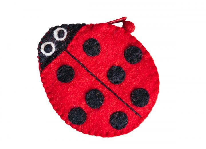 Felt purse ladybird