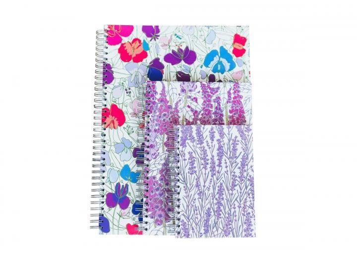 Floral hardback notebooks