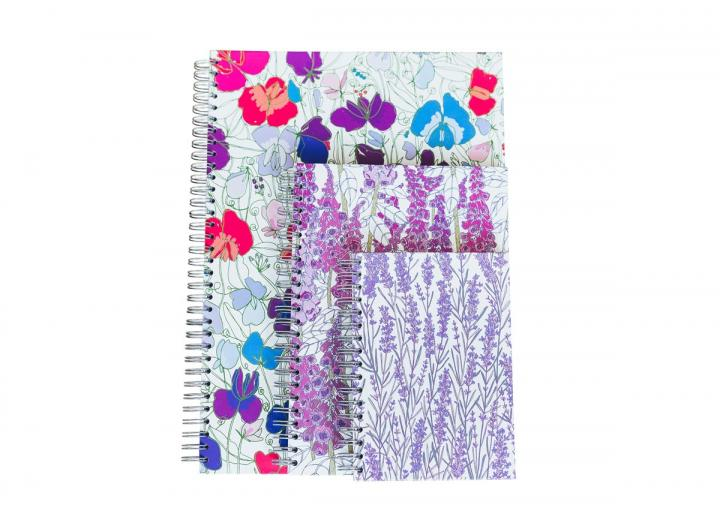 Floral hardback notebooks