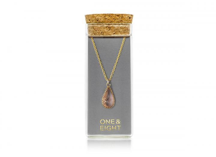 Glass blush necklace