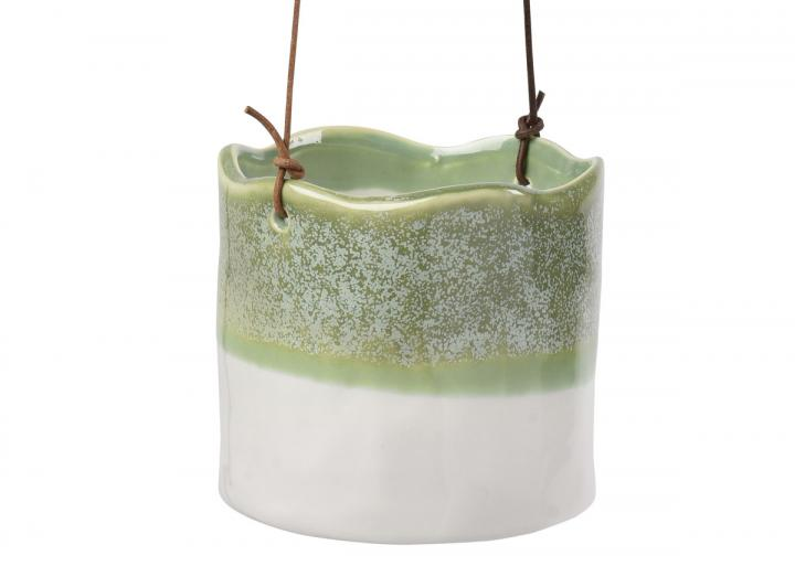 Wave design indoor hanging pot