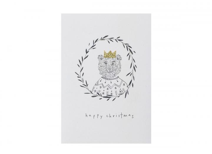Happy Christmas bear card