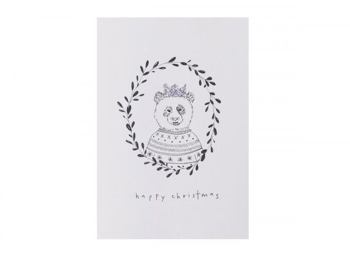 Happy Christmas card panda