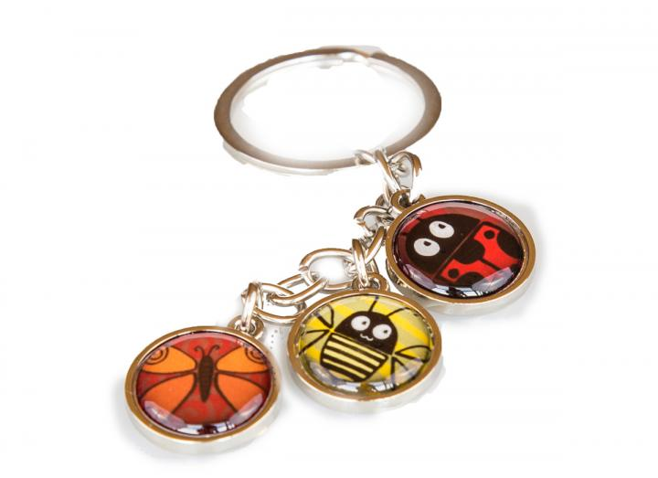 Insect charm keyring