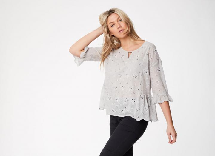 Katka floaty fit organic cotton blouse
