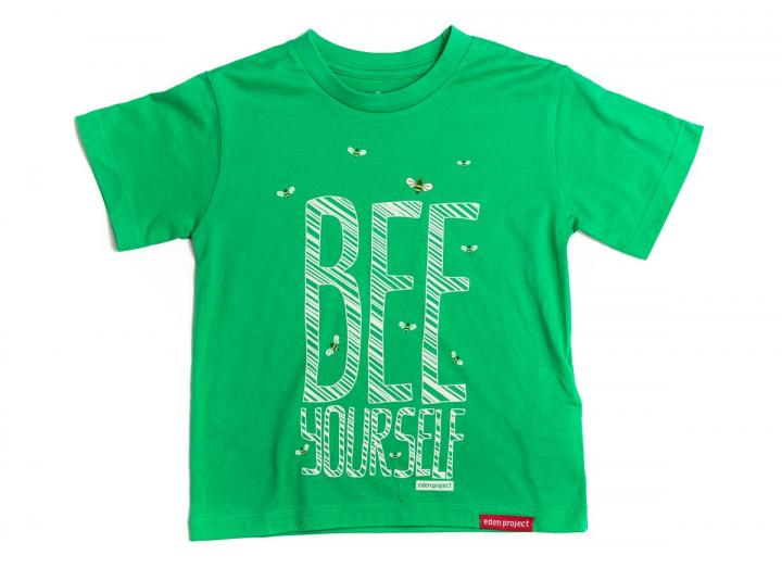 Kids bee yourself t-shit green