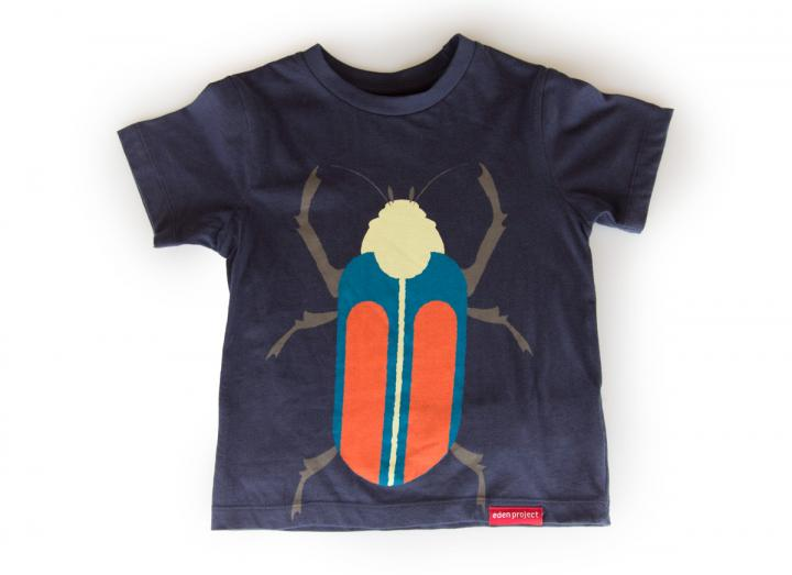 Kids bug t-shirt navy