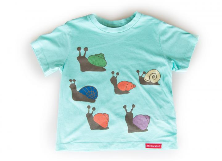 Kids snail repeat t-shirt aqua
