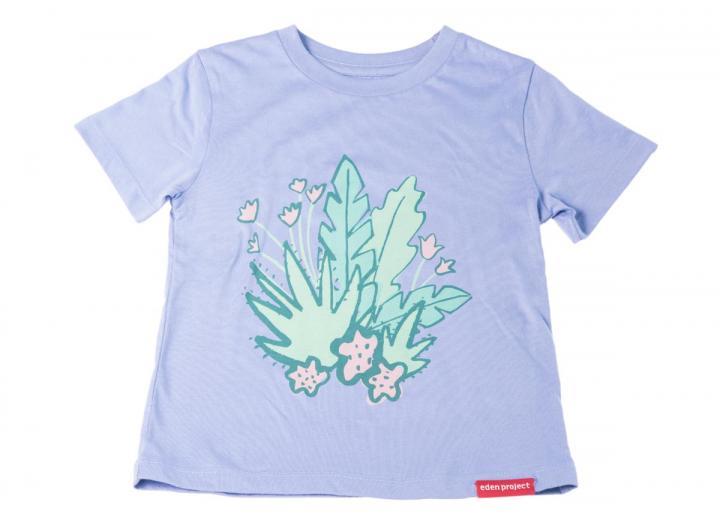 Kids Floral Print LilacT-Shirt