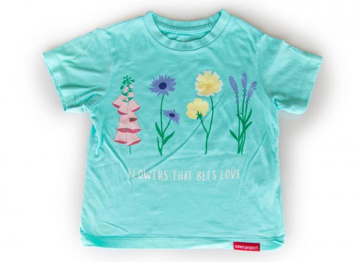 Kids flowers that bees love t-shirt aqua