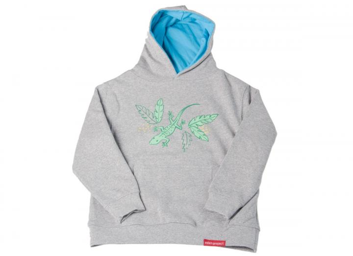 Kids hoody lizard and leaves