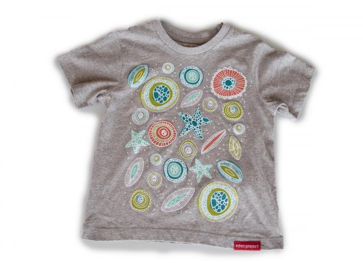 Kids invisible worlds t-shirt grey marl