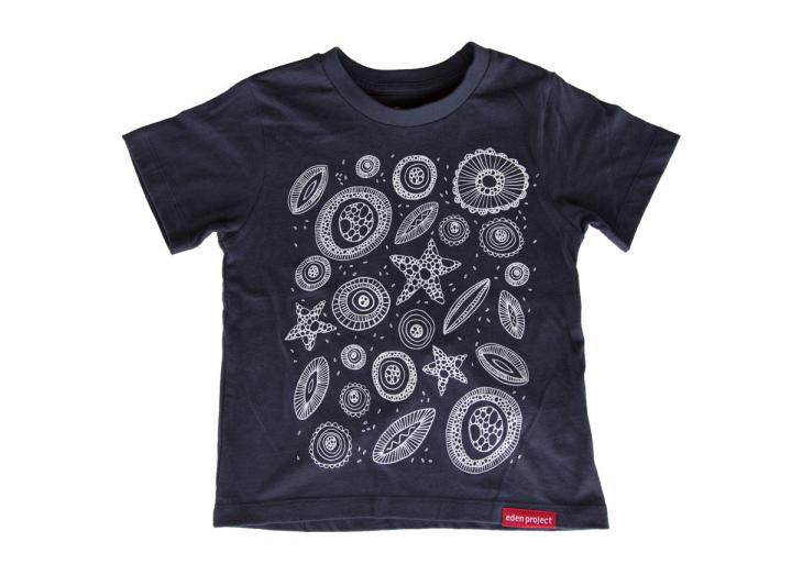 Kids invisible worlds t-shirt navy
