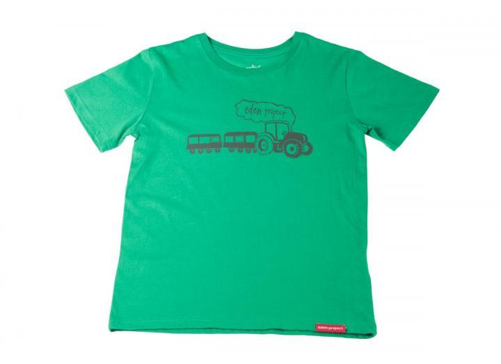 Kids landtrain t-shirt fern green