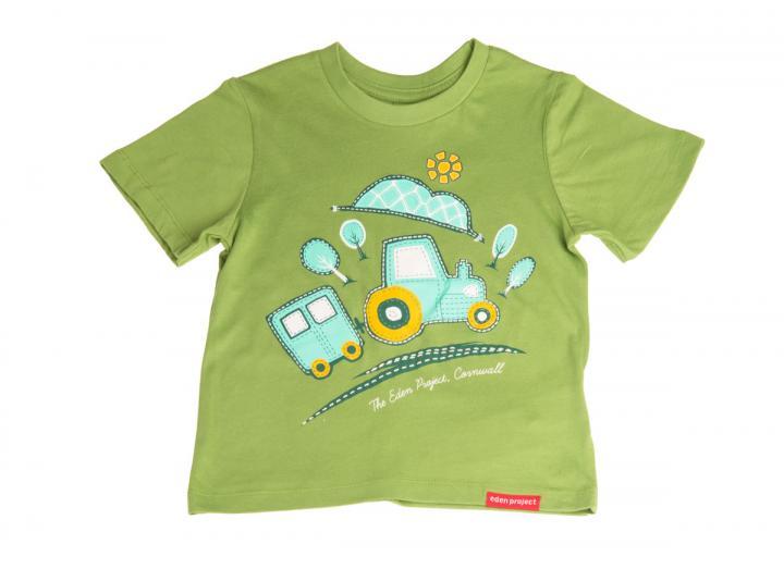 Kids landtrain t-shirt piquant green