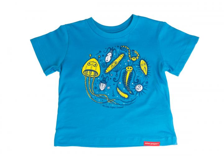 Kids ocean t-shirt swedish blue