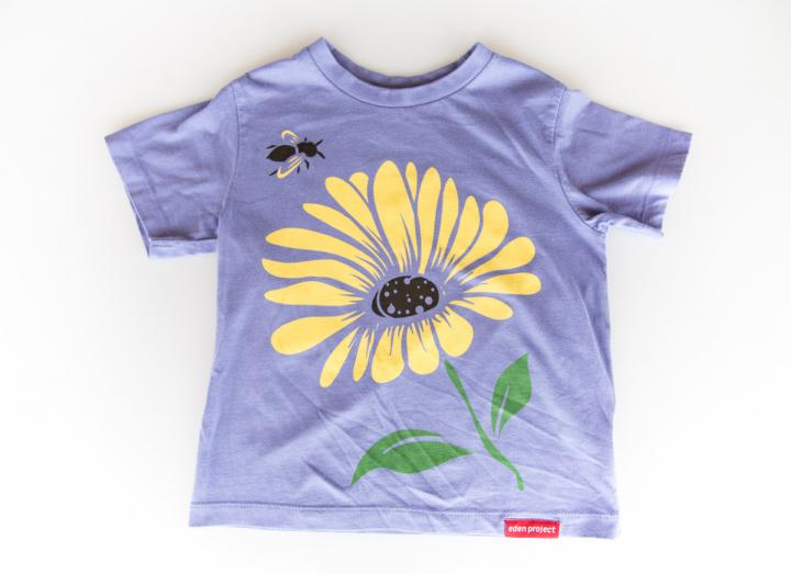 Kids bee and flower t-shirt mauve