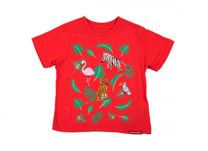 Kids tropical t-shirt red