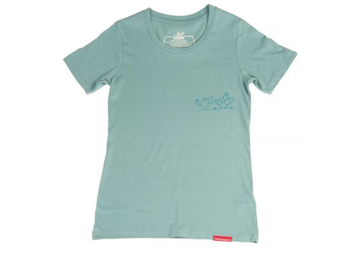 Women's cactus t-shirt teal