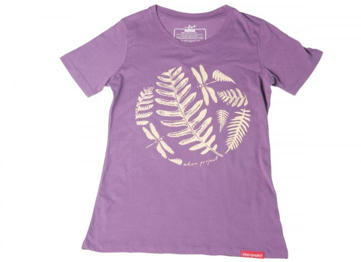 Ladies fern t-shirt pansy purple