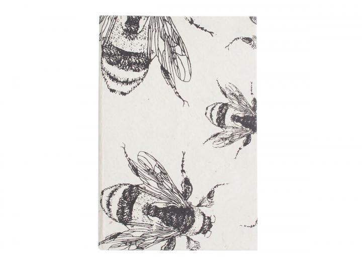 Lokta journal bee print
