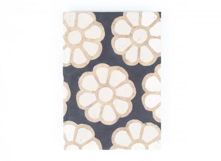 Large lokta journal floral