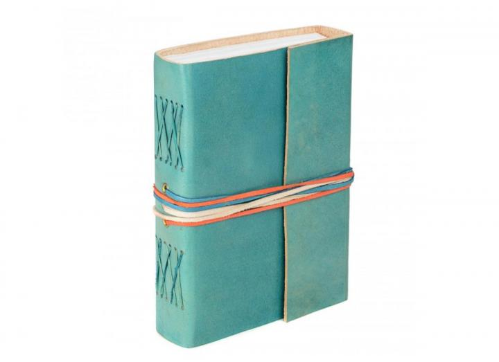 Leather journal blue
