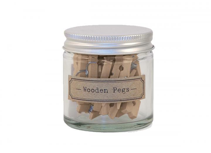 Little pegs in a jar