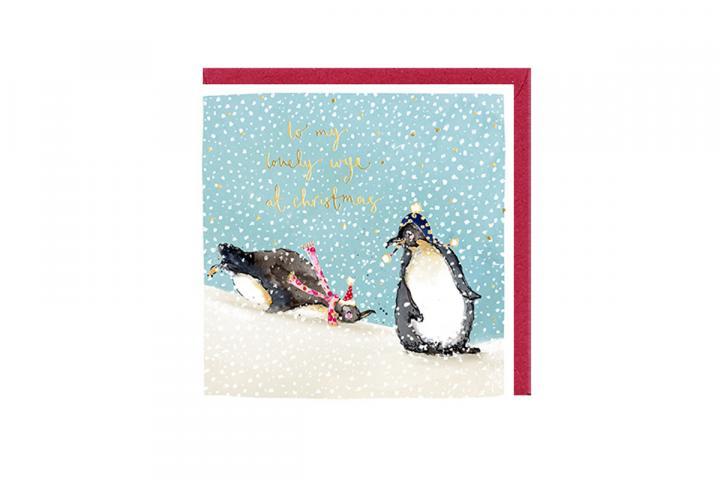 Lovely wife Christmas card
