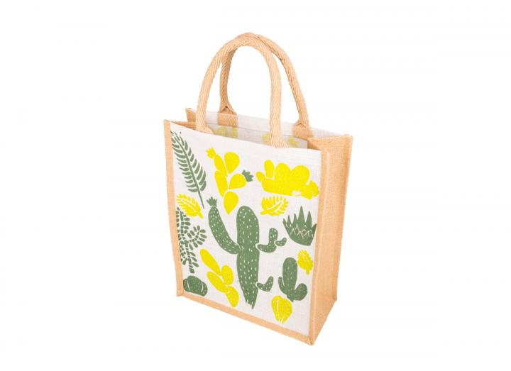 Medium jute bag cactus