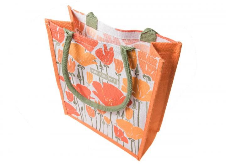 Medium jute bag californian poppy