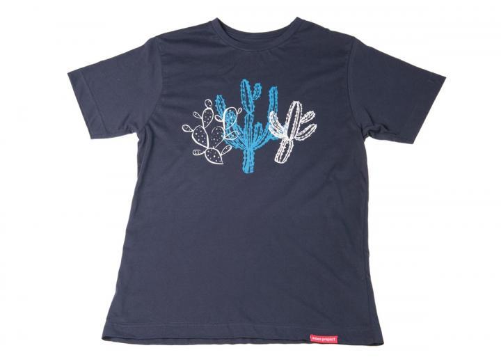 Mens cactus print t-shirt navy