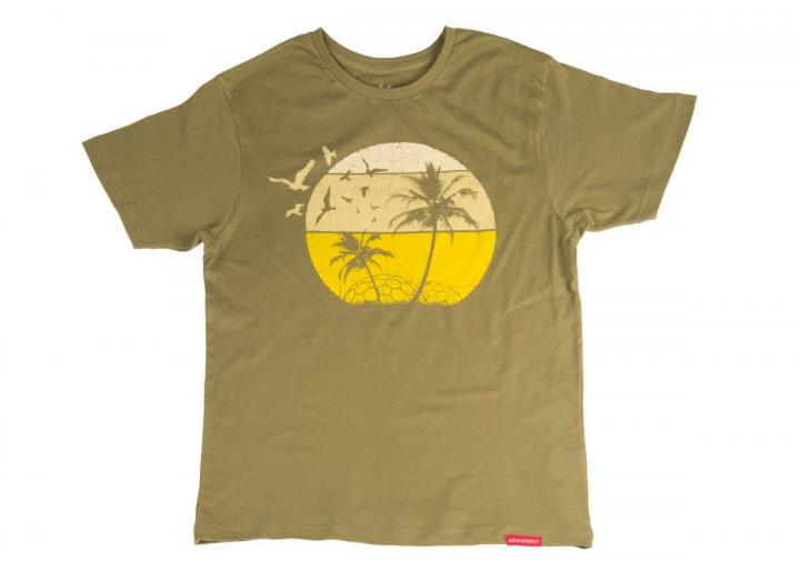Men's summers day t-shirt olive green