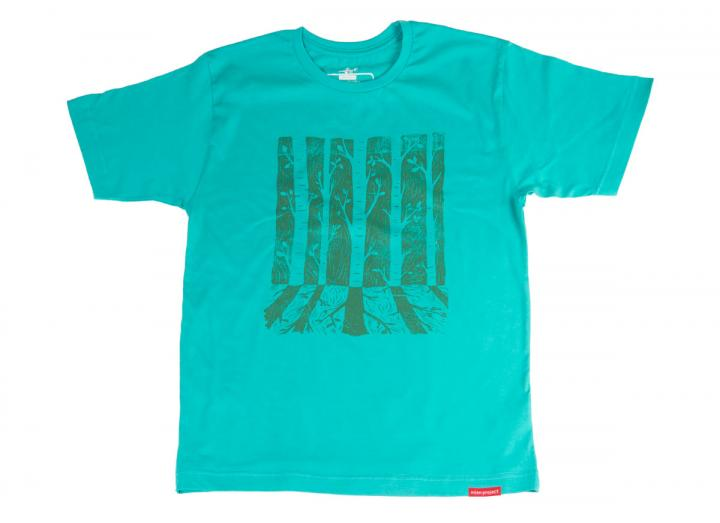 Men's tree reflection t-shirt baltic blue